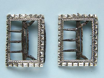 Pair of Georgian Silver Knee Buckles, late 18th or early 19th Century