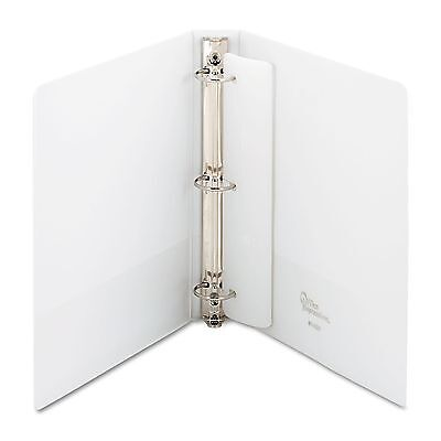 "1.5"" Round 3-Ring Binder White School Office Inch View Sheet Paper Three Pockets"