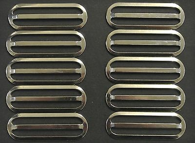 50mm Military 3 Bar Slides Nickel Plated x10 For Belts,Straps,Bags,Webbing,Craft