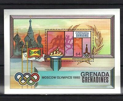 Grenada.grenadines.moscow Olympics 1980 Mini Sheet Mnh