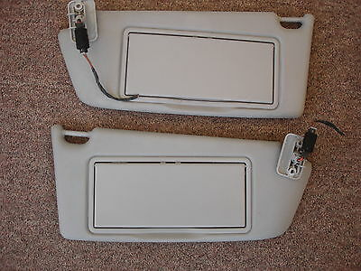 VAUXHALL ASTRA H 2004 to 2008 HATCHBACK PAIR OF SUN VISORS WITH MIRRORS +LIGHTS
