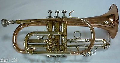 B FLAT Bb CORNET WITH STURDY CASE AND MOUTHPIECE