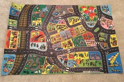 Kids/Child Large Playmat Floor Play Mat for Toy Cars with roads (149 x 99cm)