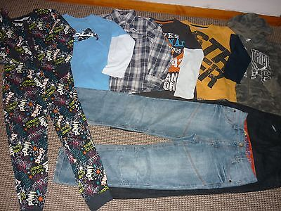 Bundle Boys Clothes age 10-11yrs Jeans Hoodie Tops Shirt Pyjamas Onesy