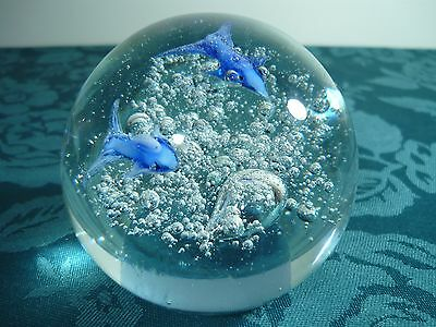 Big Beautiful Paperweight With Dolphins?