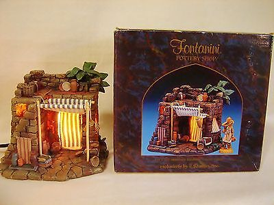 MIB! Fontanini Nativity Villiage THE POTTERY SHOP 50262 w Light Cord - Used Once