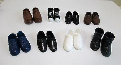 8 Pairs of Barbie Ken Friends Shoes Loafers Boots Tennis Shoes Vintage & Modern