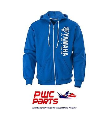 YAMAHA Full Zip Racing Hoodie CRP-13FZV Blue with White Racing Logo - L & XL