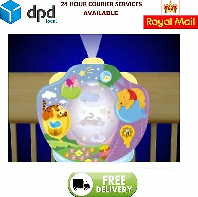 Winnie The Pooh Tomy 2015 Baby Cot Mobile Lullaby Projector Lightshow NightLight