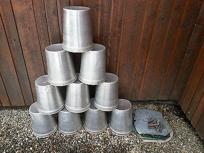 10 MAPLE SYRUP Sap BUCKETS + 10 Lids Covers + 10 Taps Spouts Spiles Ready To Use
