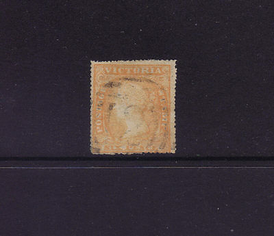 Victoria Sg 60,Sc#23; 6d Serrated Perf 19 Woodblock Fine Used.Very Scarce.