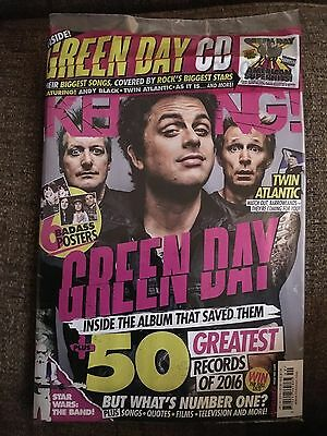 Kerrang 1649 10th December 2016 Includes Green Day American Superhits cover cd