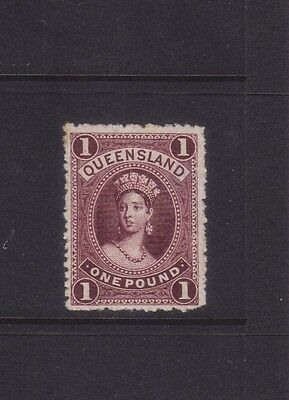 Queensland £1 in plum PERFORATED PLATE PROOF.CERT***VERY RARE***