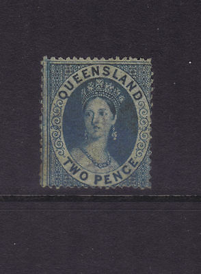 Queensland Sg 5; 2d Blue Wmk Large Star Mint,Sg cv £1400 **RARE**
