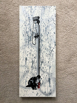 * Spqr - See See No More * Original Painting On Canvas *