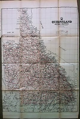 Large Scale Original Map of the Counties of Queensland 1900