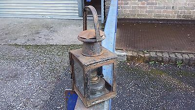 Old Railway paraffin signal lamp BR