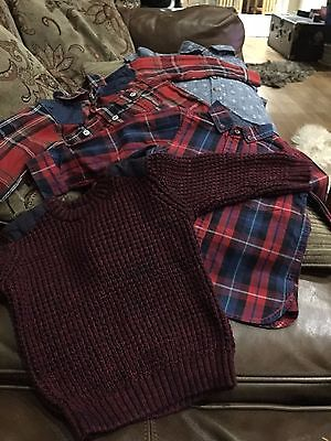 Baby boys shirts and jumper age 12-18 months mixed brands - excellent condition