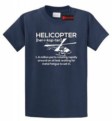 Funny Helicopter T Shirt Pilot Gift Flying Tee S-5XL
