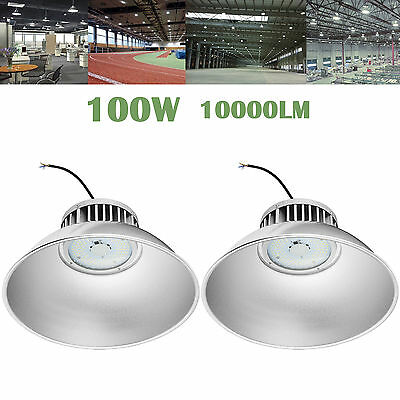 2X 100W LED High Bay Light Industrial Lamp Factory Warehouse Roof Shed Lighting