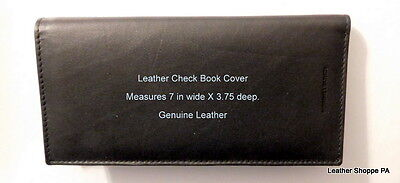 Leather Check Book Cover with Check Register