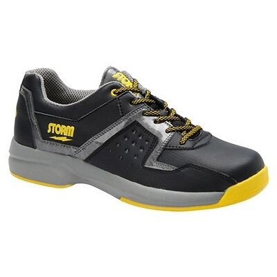 Storm Lightning Black/Grey/Yellow Right Hand Mens Bowling Shoes NEW