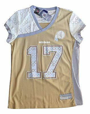Jason Campbell Washington Redskins Gold Reebok Womens Jersey L Large #17 NWT