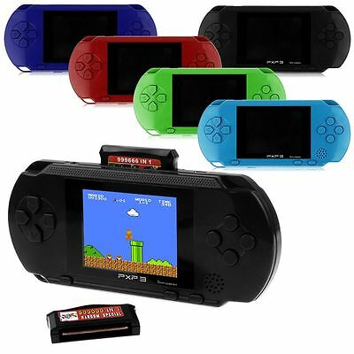 Newest PXP 3 Game Console Handheld Portable 16 Bit Games Gift +2 Card For Kids