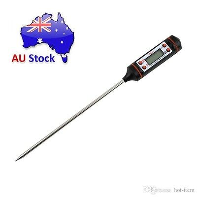 Cooking Digital Food Thermometer Probe Kitchen BBQ Deep Fry Meat Candy jam