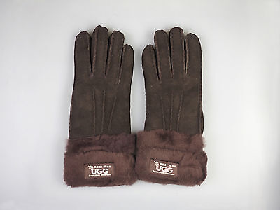 Real Aus Uggs - Sheepskin Gloves Ladies With Double Wool Cuff - UG/02