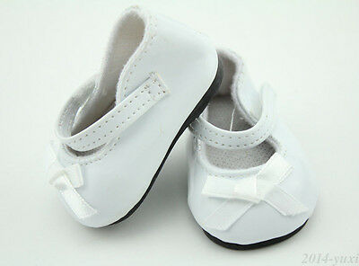 White Patent Leather Shoes With Bow Fit 18 Inch American Girl Doll