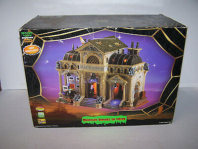 Lemax Pumpkin Hollow REST IN PIECES MAUSOLEUM Animated,Music, In Orig. Box