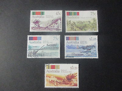 No 82 -1992-  WORLD WAR  ISSUES  -5  STAMPS  --F/S   --USED  A1