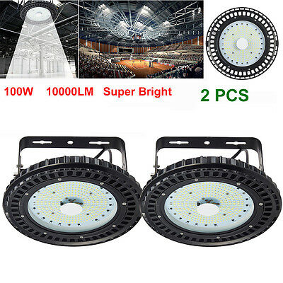 5X 100W LED High Bay Light Industrial Lamp Factory Warehouse Roof Shed Lighting