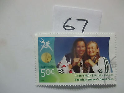 N o -67--2006 COMMONWEALTH  GAMES  -USED  50c  VALUES  ---A1  ORDER