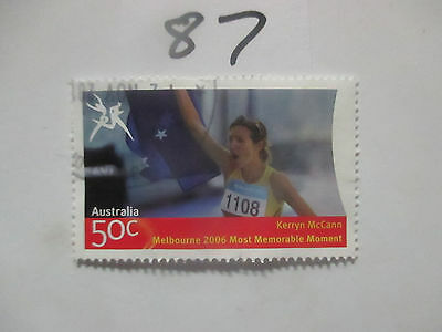 N o -87--2006 COMMONWEALTH  GAMES  -USED  50c  VALUES  ---A1  ORDER