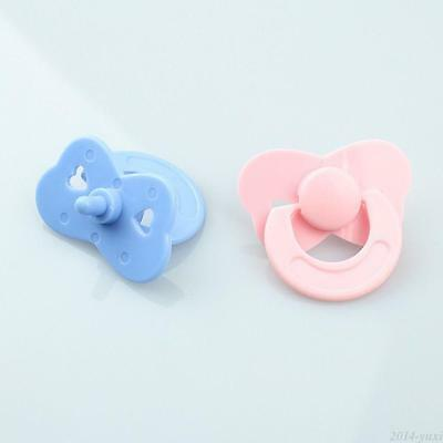 Tiny Pacifier Dummy Fit Reborn Baby Dolls Pink Blue Dolls Accessories 2 Pcs/set