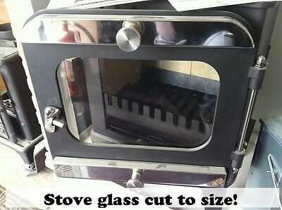Stove Fire Glass Woodburner cracked multi fuel cut to size heat resistant coal