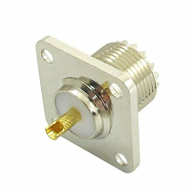 UHF SO-239 Female Jack Square Shape Solder Cup Coax Connector for Ham Radio S7K1