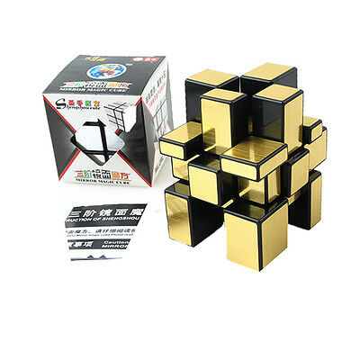 Gold Shengshou Mirror Cube Ultra-Smooth Brain Train Puzzle Twist Toy Speed Cube