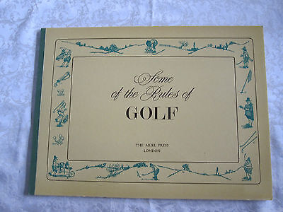 """Charles Crombie 1966  """"SOME OF THE RULES OF GOLF"""" Perrier Book of 16 Prints"""