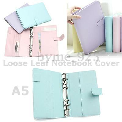 1Pc 3 Types A5 Loose Leaf Ring Binder Notebook Weekly Monthly Planner Diary 37cm