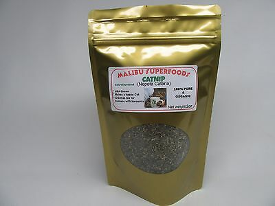 CATNIP 2oz Fresh Dried Coarse ground (Nepeta Cataria) Organic USA grown