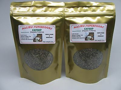 CATNIP Fresh Dried Coarse ground 4oz (Nepeta Cataria) Organic USA grown