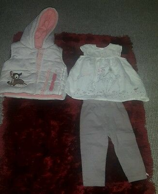 baby girl disney bambi outfit age 9-12 months
