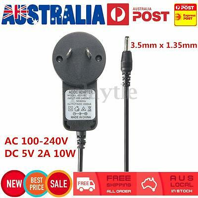 AU 3.5mm AC Power Supply Adapter 100-240V Converter DC5V 2A 10W Charger Charging