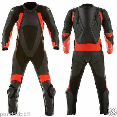 Racing Motorbike Leather Suit Motorcycle Suit Cowhide Leather Biker Suit 1Pc