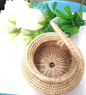 3Pc Handmade Put Giftcrafts Thailand Art&crafts Baskets Weaving Bowl With A Lid