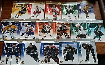 16 Upper Deck Piece of History nhl ice hockey trading cards