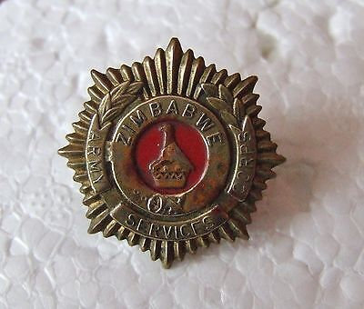 Southern Africa Zimbabwe Army Service Corps Cap / Beret Badge